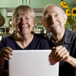 Senior Couple with a Laptop Computer — Stock Photo