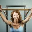 Womdoing strength workout — Stock Photo #39615951
