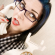 Pretty young womon phone — Stockfoto #39616507