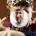 Gyspy seen in a crystal ball — Stock Photo #39617705