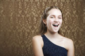 Confident Young Girl Laughing — Stock Photo