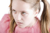 Bratty Young Girl — Stock Photo