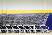 Line of Shopping Carts — 图库照片