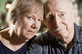 Portrait of Worried Senior Couple — Stock Photo