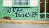 Anti government graffiti in Nicaragua — Stock Photo