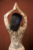 Woman with tattoos — Stock Photo