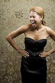 笑うかなり民族の女性 — ストック写真