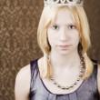 Pretty young girl with tiara — Stock Photo #39620771