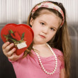 Stock Photo: Cute young girl with Valentine