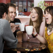 Young Friends Toasting with Coffee Cups — Stock Photo #39626901
