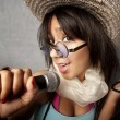 Beautiful Young Singer — Stock Photo #39629401