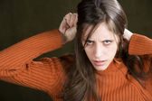 Distraught Young Woman — Stockfoto