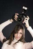 Pretty Photographer — Stock Photo