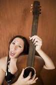 Funny Hispanic Folk Singer — Stock Photo