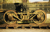 Antique train wheels — Stock Photo