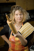 Frustrated Woman Baker — Stock Photo