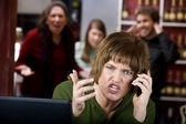 Annoying woman on her cell phone — Stock Photo