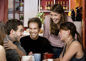 Friends in a Coffee House — Stok fotoğraf