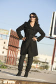 Beautiful Woman in a Trenchcoat — Stock Photo