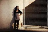 Woman with shadows — ストック写真