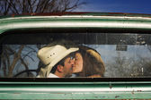 Cowboy Kiss — Stock Photo