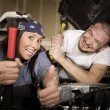 Stock Photo: Hapless mechanics