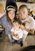 Do-It-Yourself family — Stock Photo