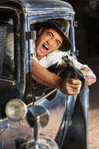 1920s Era Drive By Shooting — Stock Photo