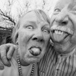 Crazy Couple Sticking Out Tongues — Stockfoto #39763409