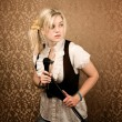 Pretty Young Singer or Comedian — Stock Photo #39768303