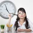 Bored woman at the end of the day — Stock Photo