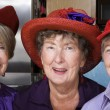 Three Senior Women Wearing Red Hats — Stock Photo #39769379