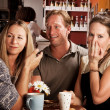 Friends in a Coffee House — Stock Photo #39769957