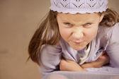 Angry young girl — Stock Photo