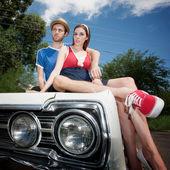 Hipster çift — Stok fotoğraf