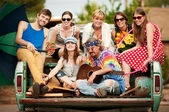 Groovy Group in the Back of Truck — Stock Photo