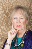 Skeptical Senior Woman — Stock Photo