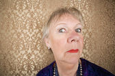 Snooty Senior Woman — Stock Photo