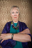Eccentric Lady with Wild Eyes — Stock Photo