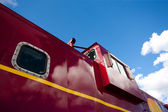 Detail of train caboose — Stock Photo