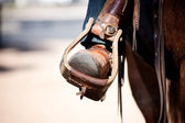 Boot in Stirrup — Stock Photo