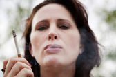 Woman Smoking — Foto Stock