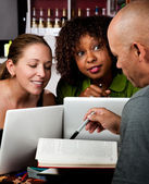 Diverse adult study group — Stock Photo