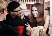 Coffee House Conversation — Stock Photo