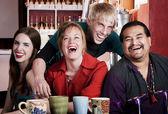 Friends in a Coffee House — Foto Stock