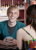 Man with female friend — Stock Photo