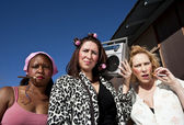 Three Trashy Women — Stockfoto