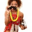 Stock Photo: African-AmericTourist