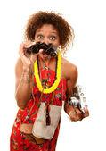 African-American Tourist — Stock Photo