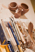 Tools for shaping clay — ストック写真